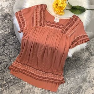 NEW! Knox Rose Rosey Brown Embroidered  Dress